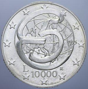 reverse: 10000 LIRE 1995 CONFERENZA DI MESSINA AG. 22 GR. FDC