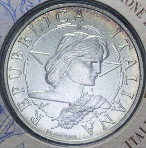 obverse: 10000 LIRE 1996 PROCLAMAZIONE DELLA REPUBBLICA AG. 22 GR. IN FOLDER FDC