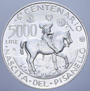 reverse: 5000 LIRE 1995 PISANELLO AG. 18 GR. FDC