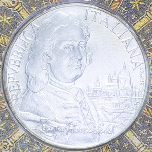 obverse: 5000 LIRE 1997 CANALETTO AG. 18 GR. IN FOLDER FDC