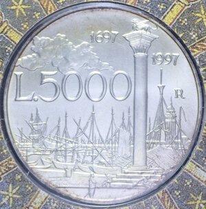 reverse: 5000 LIRE 1997 CANALETTO AG. 18 GR. IN FOLDER FDC