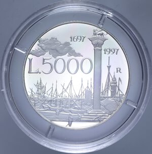 reverse: 5000 LIRE 1997 CANALETTO NC AG. 18 GR. IN COFANETTO PROOF
