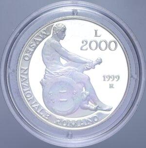 reverse: 2000 LIRE 1999 MUSEO NAZIONALE ROMANO NC AG. 16 GR. IN COFANETTO PROOF