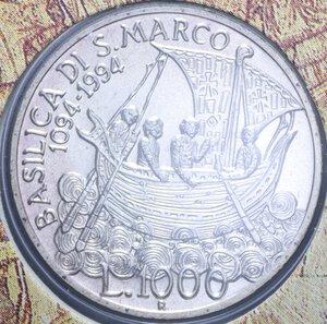reverse: 1000 LIRE 1994 ANNO MARCIANO IN VENEZIA AG. 14,6 GR. IN FOLDER FDC