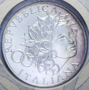 obverse: 1000 LIRE 1996 OLIMPIADE DI ATLANTA AG. 14,6 GR. IN FOLDER FDC
