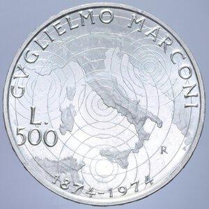 reverse: 500 LIRE 1974 MARCONI AG. 11 GR. FDC