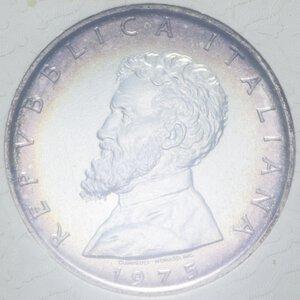 obverse: 500 LIRE 1975 MICHELANGELO BUONARROTI AG. 14,6 GR. IN FOLDER FDC