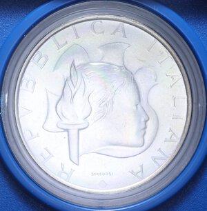 obverse: 500 LIRE 1984 OLIMPIADE DI LOS ANGELES AG. 11 GR. IN SCATOLA E COFANETTO FDC