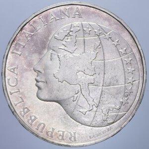 obverse: 500 LIRE 1985 PRESIDENZA ITALIANA CEE AG. 11 GR. FDC