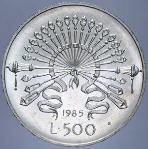 reverse: 500 LIRE 1985 MANZONI NC AG. 11 GR. FDC