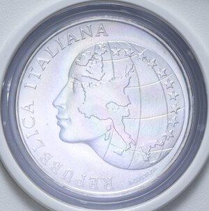 obverse: 500 LIRE 1985 PRESIDENZA ITALIANA CEE AG. 11 GR. IN SCATOLA E COFANETTO FDC