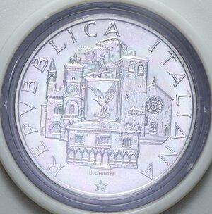 obverse: 500 LIRE 1985 MONDO UNITO DELL ADRIATICO AG. 11 GR. IN SCATOLA E COFANETTO FDC