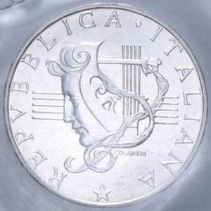 obverse: 500 LIRE 1985 MUSICA AG. 11 GR. IN FOLDER FDC