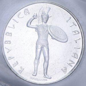 obverse: 500 LIRE 1985 ETRUSCHI AG. 11 GR. IN FOLDER (DANNEGGIATO) FDC