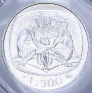 reverse: 500 LIRE 1987 FAMIGLIA AG. 11 GR. IN FOLDER FDC