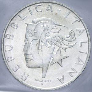 obverse: 500 LIRE 1988 OLIMPIADE DI SEUL AG. 11 GR. IN FOLDER FDC