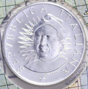 obverse: 500 LIRE 1991 SCOPERTA DELL AMERICA TERZA EMISSIONE AG. 11 GR. IN FOLDER FDC