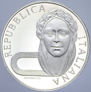 obverse: 500 LIRE 1992 OLIMPIADE BARCELLONA AG. 15 GR. PROOF