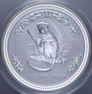 obverse: AUSTRALIA ELISABETTA II 1 DOLLARO 2004 SCIMMIA AG. 31,11 GR. PROOF