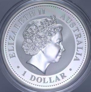 reverse: AUSTRALIA ELISABETTA II 1 DOLLARO 2006 CANE AG. 31,11 GR. PROOF