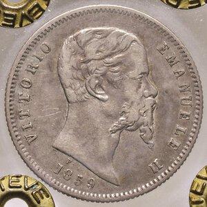 obverse: SAVOIA. Vittorio Emanuele II, Re Eletto (1859-1861)