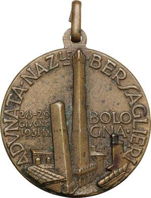 reverse: Medaglia per l adunata nazionale dei bersaglieri a Bologna, 28-29 giugno 1931, A. IX