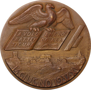 reverse: Giacomo Leopardi (1798-1837). Medaglia 1937 per il primo centenario della morte