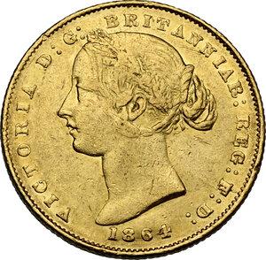 obverse: Australia.  Victoria (1837-1901). AV Sovereign 1864, Sidney mint