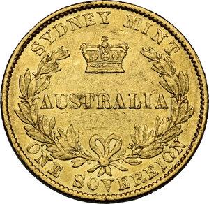 reverse: Australia.  Victoria (1837-1901). AV Sovereign 1864, Sidney mint
