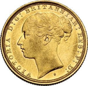 obverse: Australia.  Victoria (1837-1901). AV Sovereign 1886 S, Sidney mint