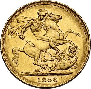 reverse: Australia.  Victoria (1837-1901). AV Sovereign 1886 S, Sidney mint