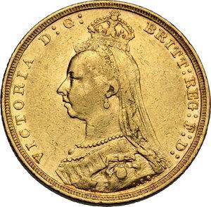 obverse: Australia.  Victoria (1837-1901). AV Sovereign 1893 S, Sidney mint