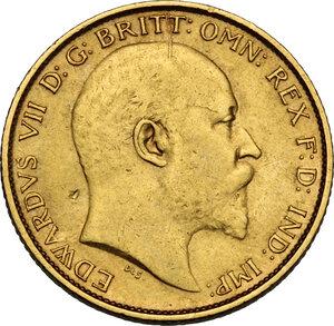 obverse: Australia.  Edward VII (1901-1911). AV Half Sovereign 1907 M, Melbourne mint
