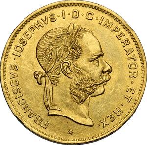 obverse: Austria.  Franz Joseph (1848-1916).. 4 Florins-10 Francs 1892 Restrike