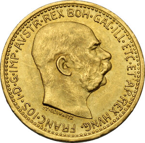 obverse: Austria.  Franz Joseph (1848-1916).. 10 Corona 1912