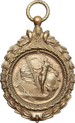 obverse: Belgium. Medal 1910, European Rowing Championships, Ostend