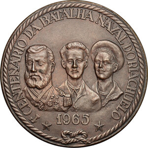 obverse: Brazil. Medal 1965, commemorating the 1st centenary of the Battle of the Riachuelo (11 June 1865)