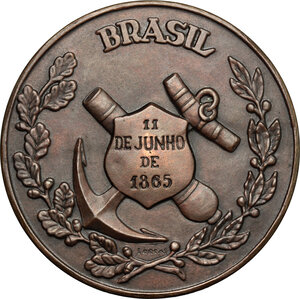 reverse: Brazil. Medal 1965, commemorating the 1st centenary of the Battle of the Riachuelo (11 June 1865)