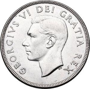 obverse: Canada.  George VI (1936-1952). Dollar 1952
