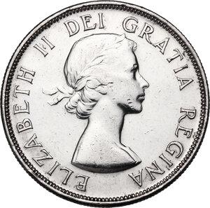 obverse: Canada.  Elizabeth II (1952 -). Dollar 1953