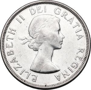 obverse: Canada.  Elizabeth II (1952 -). Dollar 1954
