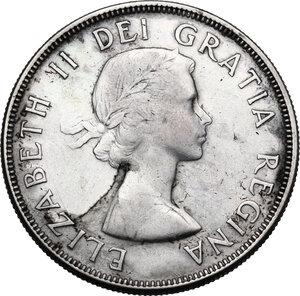 obverse: Canada.  Elizabeth II (1952 -). Dollar 1955