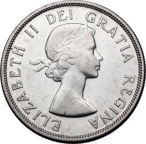 obverse: Canada.  Elizabeth II (1952 -). Dollar 1956