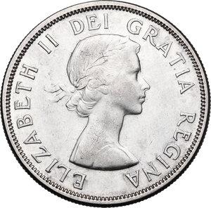 obverse: Canada.  Elizabeth II (1952 -). Dollar 1957
