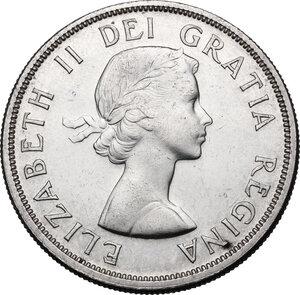 obverse: Canada.  Elizabeth II (1952 -). Dollar 1958