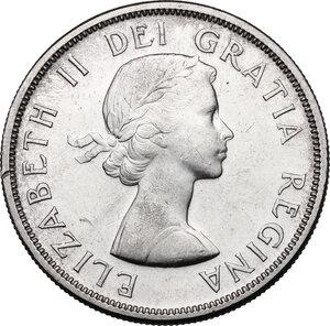 obverse: Canada.  Elizabeth II (1952 -). Dollar 1959