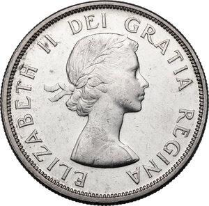 obverse: Canada.  Elizabeth II (1952- ). Dollar 1960