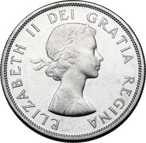 obverse: Canada.  Elizabeth II (1952- ). Dollar 1961
