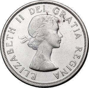 obverse: Canada.  Elizabeth II (1952 -). Dollar 1962
