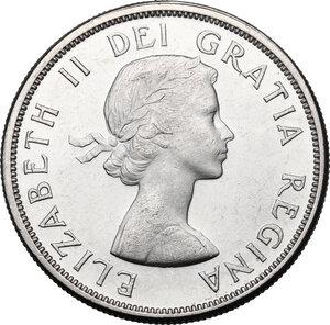 obverse: Canada.  Elizabeth II (1952 -). Dollar 1963